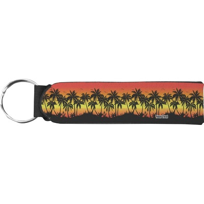 Tropical Sunset Neoprene Keychain Fob (Personalized)