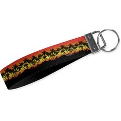 Tropical Sunset Wristlet Webbing Keychain Fob (Personalized)