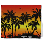 Tropical Sunset Kitchen Towel - Full Print (Personalized)
