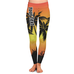 Tropical Sunset Ladies Leggings - Extra Large (Personalized)