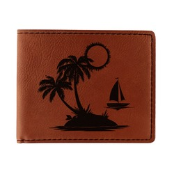 Tropical Sunset Leatherette Bifold Wallet (Personalized)