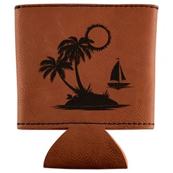 Tropical Sunset Leatherette Can Sleeve (Personalized)