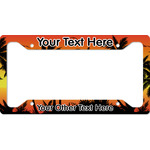 Tropical Sunset License Plate Frame (Personalized)