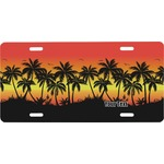 Tropical Sunset Front License Plate (Personalized)