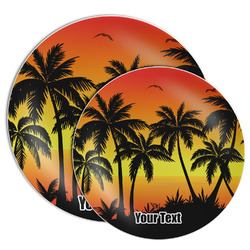 Tropical Sunset Melamine Plate (Personalized)
