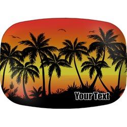 Tropical Sunset Melamine Platter (Personalized)