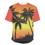 Tropical Sunset Men's Crew T-Shirt (Personalized)