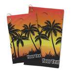 Tropical Sunset Microfiber Golf Towel (Personalized)