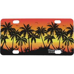 Tropical Sunset Mini / Bicycle License Plate (4 Holes) (Personalized)
