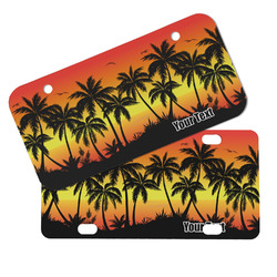 Tropical Sunset Mini/Bicycle License Plates (Personalized)