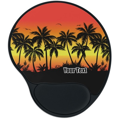 Tropical Sunset Mouse Pad with Wrist Support