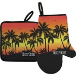 Tropical Sunset Oven Mitt & Pot Holder (Personalized)