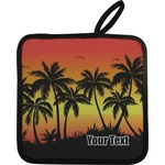Tropical Sunset Pot Holder w/ Name or Text