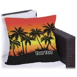 Tropical Sunset Outdoor Pillow (Personalized)