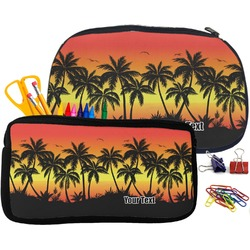 Tropical Sunset Pencil / School Supplies Bag (Personalized)