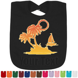 Tropical Sunset Bib - Select Color (Personalized)