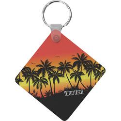 Tropical Sunset Diamond Key Chain (Personalized)