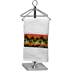 Tropical Sunset Finger Tip Towel (Personalized)