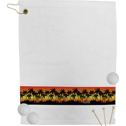 Tropical Sunset Golf Bag Towel (Personalized)