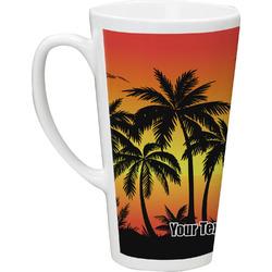 Tropical Sunset Latte Mug (Personalized)