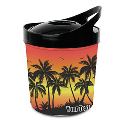 Tropical Sunset Plastic Ice Bucket (Personalized)
