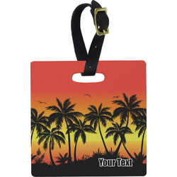 Tropical Sunset Luggage Tags (Personalized)