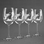Tropical Sunset Wine Glasses (Set of 4) (Personalized)