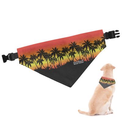 Tropical Sunset Dog Bandana (Personalized)