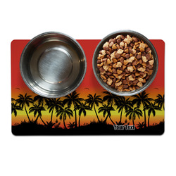 Tropical Sunset Pet Bowl Mat (Personalized)
