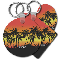 Tropical Sunset Plastic Keychains (Personalized)