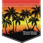 Tropical Sunset Iron On Faux Pocket (Personalized)