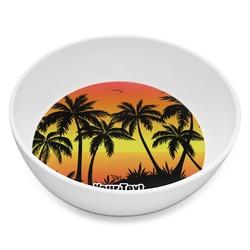 Tropical Sunset Melamine Bowl 8oz (Personalized)