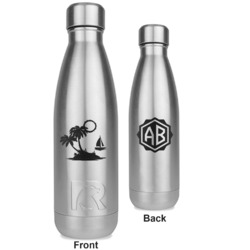 Tropical Sunset RTIC Bottle - Silver - Engraved Front & Back (Personalized)