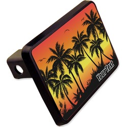 "Tropical Sunset Rectangular Trailer Hitch Cover - 2"" (Personalized)"