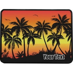 Tropical Sunset Rectangular Trailer Hitch Cover (Personalized)