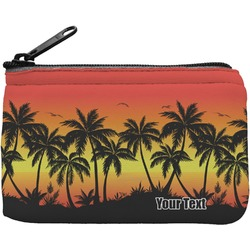 Tropical Sunset Rectangular Coin Purse (Personalized)