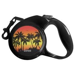 Tropical Sunset Retractable Dog Leash (Personalized)
