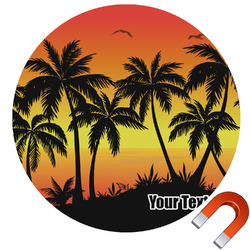 Tropical Sunset Car Magnet (Personalized)