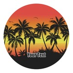 Tropical Sunset Round Decal (Personalized)