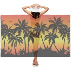 Tropical Sunset Sheer Sarong (Personalized)