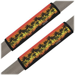 Tropical Sunset Seat Belt Covers (Set of 2) (Personalized)