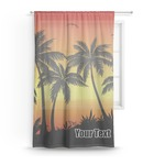 Tropical Sunset Sheer Curtains (Personalized)