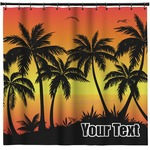 Tropical Sunset Shower Curtain (Personalized)
