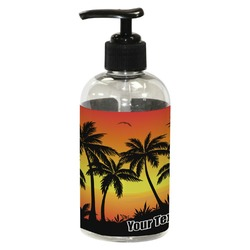 Tropical Sunset Plastic Soap / Lotion Dispenser (8 oz - Small) (Personalized)