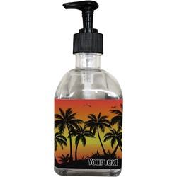 Tropical Sunset Soap/Lotion Dispenser (Glass) (Personalized)