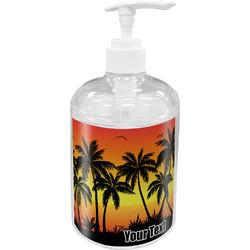 Tropical Sunset Acrylic Soap & Lotion Bottle (Personalized)