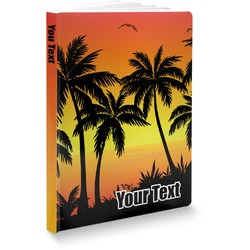 Tropical Sunset Softbound Notebook (Personalized)