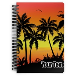 Tropical Sunset Spiral Bound Notebook (Personalized)