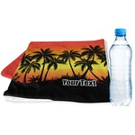 Tropical Sunset Sports & Fitness Towel (Personalized)
