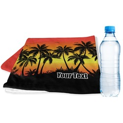 Tropical Sunset Sports Towel (Personalized)